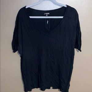 Express Cotton T-shirt with Button down back